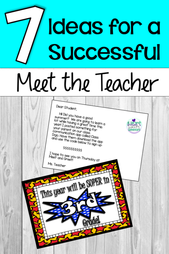 7 Ideas for Meet the Teacher